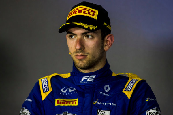 2017 FIA Formula 2 Round 4. Baku City Circuit, Baku, Azerbaijan. Sunday 25 June 2017. Nicholas Latifi (CAN, DAMS)  Photo: Zak Mauger/FIA Formula 2. ref: Digital Image _54I3748