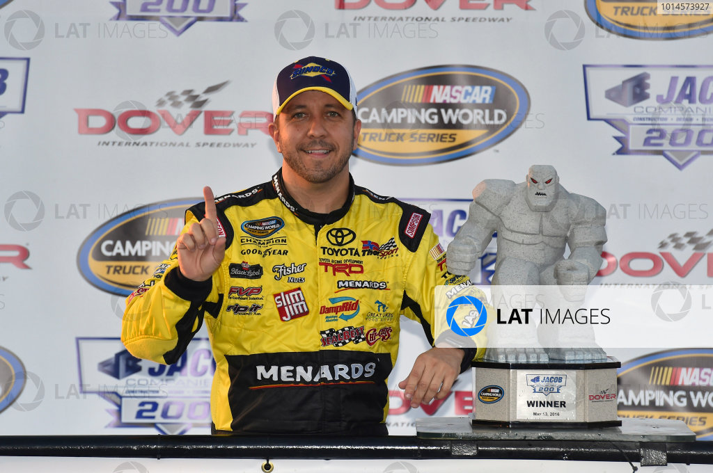 12-13 May, 2016, Dover, Delaware USA Matt Crafton celebrates his win in Victory Lane ? 2016, Nigel Kinrade LAT Photo USA