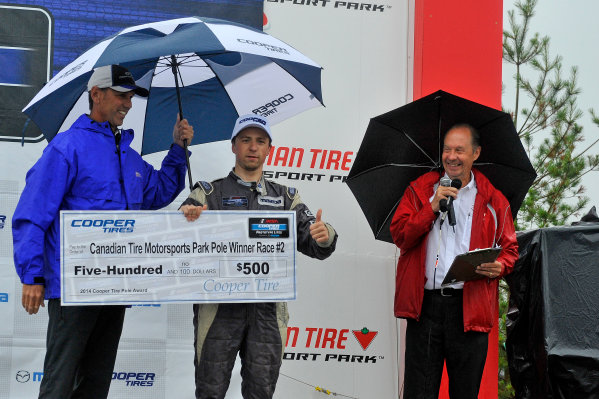 10-13 July 2014, Bowmanville, Ontario Canada  10, Mikhail Goikhberg, L1, Elan DP-02 pole award ?2014 Scott R LePage  LAT Photo USA