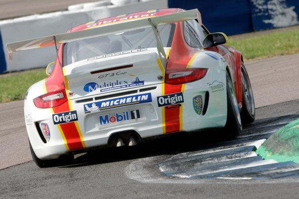 Rockingham, Northamptonshire. 21st - 23rd September 2012.Richard Plant (GBR) Team Parker Racing Porsche Carrera Cup.World Copyright: Ebrey/LAT Photographic.