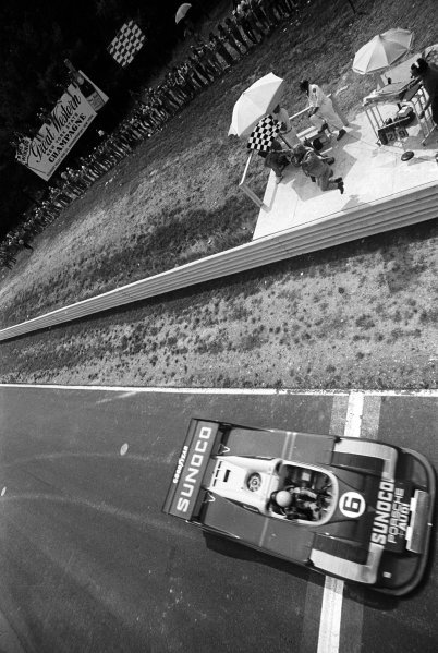 Mark Donohue (USA) Penske Racing Porsche 917/30 won the race. Can-Am Series, Watkins Glen, 1973.