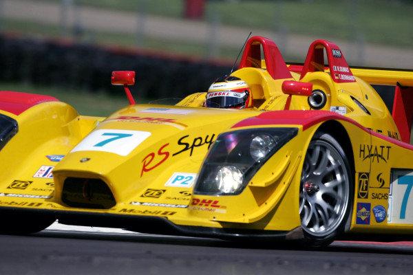 Timo Bernhard (GER) Penske Motorsports Porsche RS Spyder won the race. American Le Mans Series, Rd3, Mid-Ohio, USA, 21 May 2006. DIGITAL IMAGE