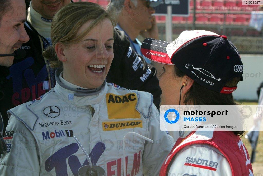 Susie Stoddart (SCO) TV Spielfilm AMG Mercedes and Vanina Ickx (BEL) Team Futurecom  DTM, Rd 1, Hockenheim, Germany, Sunday 22 April 2007. DIGITAL IMAGE