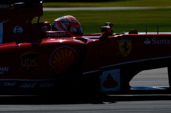 Kimi Raikkonen (FIN) Ferrari F14 T. Formula One World Championship, Rd17, United States Grand Prix, Qualifying, Austin, Texas, USA, Saturday 1 November 2014.