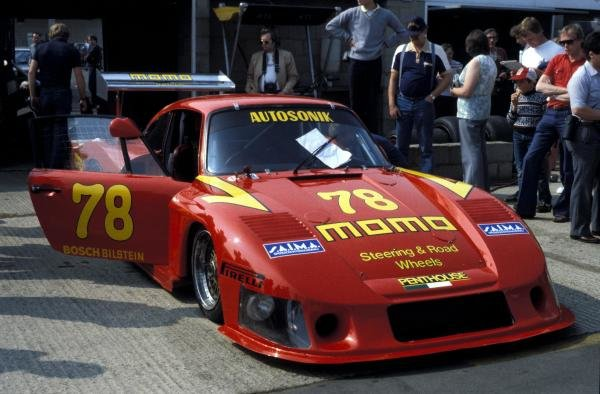 Gianpiero Moretti (ITA) / Mauro Baldi (ITA) Momo Racing Porsche 935 finished in 7th place winning the GTX class.World Sports Prototype Championship, Rd2, Silverstone 6 Hours, England, 16 May 1982.