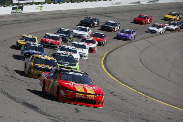 #7: Justin Allgaier, JR Motorsports, Chevrolet Camaro BRANDT Professional Agriculture leads the field