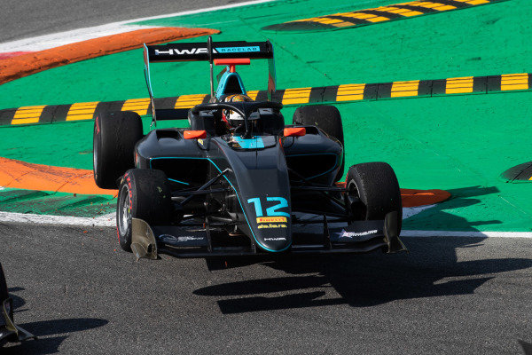 AUTODROMO NAZIONALE MONZA, ITALY - SEPTEMBER 07: Keyvan Andres (IRN, HWA RACELAB) x] during the Monza at Autodromo Nazionale Monza on September 07, 2019 in Autodromo Nazionale Monza, Italy. (Photo by Joe Portlock / LAT Images / FIA F3 Championship)