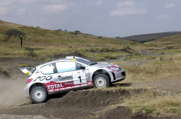 2001 World Rally Championship.Nairobi, Kenya. July 20-22, 2001Marcus Gronholm during shakedown.Photo: Ralph Hardwick/LAT