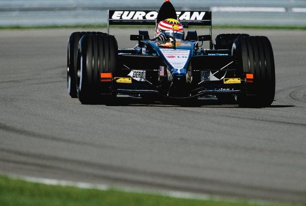 2001 United States Grand Prix.Indianapolis, Indiana, USA. 28-30 September 2001.Alex Yoong (Minardi PS01 European).Ref-01 USA 25.World Copyright - Lorenzo Bellanca/LAT Photographic