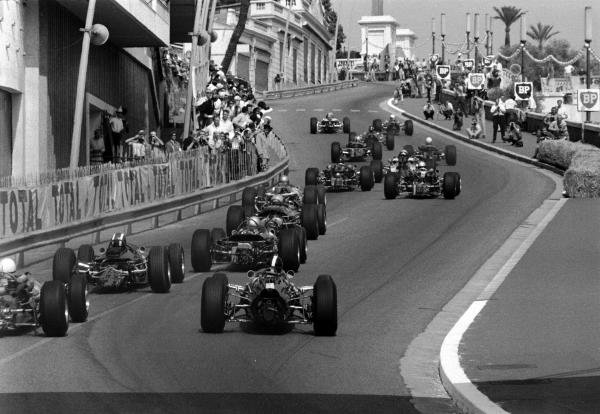 Monaco GP, 22 May 1966 Lap one