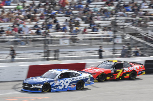 #39: Ryan Sieg, RSS Racing, Ford Mustang CMR Construction and Roofing / A-Game, #7: Justin Allgaier, JR Motorsports, Chevrolet Camaro BRANDT