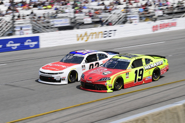 #19: Brandon Jones, Joe Gibbs Racing, Toyota Supra Menards/Atlas, #92: Josh Williams, DGM Racing, Chevrolet Camaro WORKPRO Tools