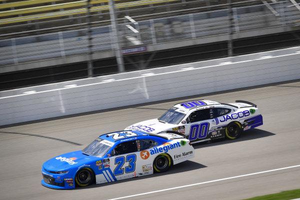 #23: John Hunter Nemechek, GMS Racing, Chevrolet Camaro Fire Alarm Services, INC, #00: Cole Custer, Stewart-Haas Racing, Ford Mustang Jacob Companies