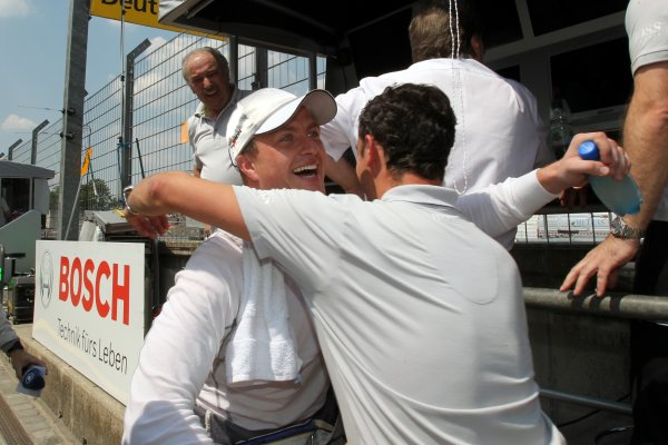 Ralf Schumacher (GER), Laureus AMG Mercedes took Pole Position.DTM, Rd4, Norisring, Nuremberg, Germany. 2-4 July 2010 World Copyright: LAT PhotographicRef: Digital Image dne1003jy93