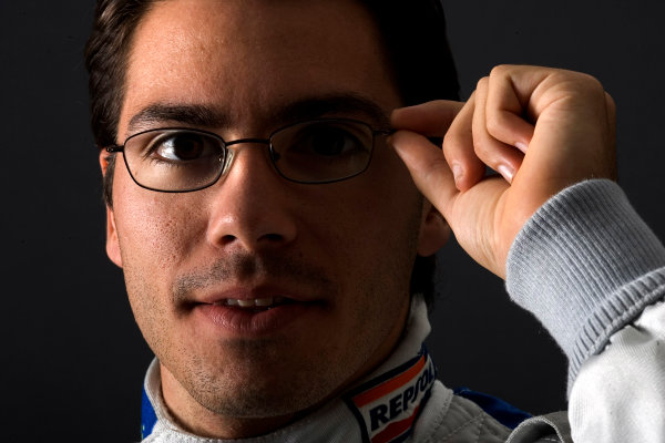 2005 GP2 Drivers Photo Shoot Borja Garcia (E, Racing Engineering). Portrait. 14th June 2005 Paul Ricard,France World Copyright: GP2 Series Ref: Digital Image Only Hi-Res Available on request