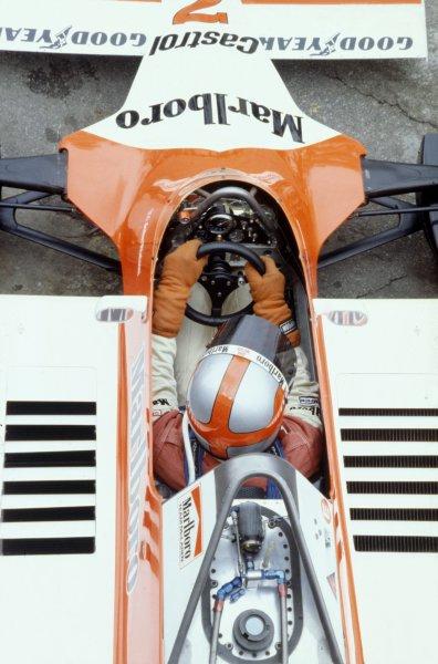 1980 Brazilian Grand Prix.Interlagos, Sao Paulo, Brazil. 25-27 January 1980.John Watson (McLaren M29B-Ford Cosworth), 11th position.World Copyright: LAT PhotographicRef: 35mm transparency 80BRA18