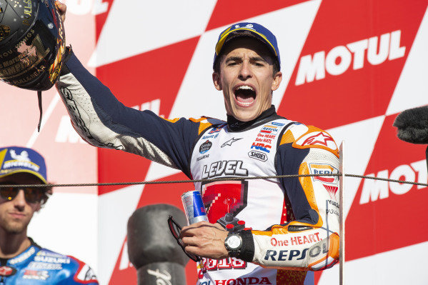 Podium:race winner Marc Marquez, Repsol Honda Team