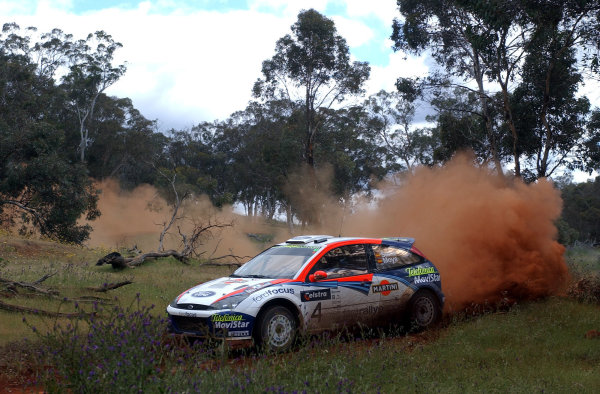 2002 World Rally Championship.Telstra Rally Australia, Perth. October 31st-November 3rd.Carlos Sainz on stage 17.Photo: Ralph Hardwick/LAT