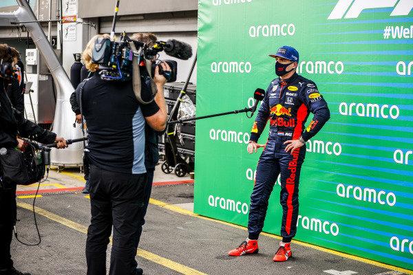 Max Verstappen, Red Bull Racing speaks to David Coulthard, Presenter in Parc Ferme