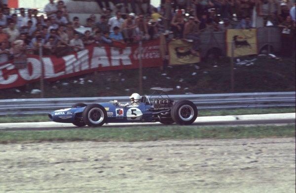 1968 Italian Grand Prix.Monza, Italy.6-8 September 1968.Johnny Servoz-Gavin (Matra MS10 Ford) 2nd position.Ref-68 ITA 76.World Copyright - LAT Photographic