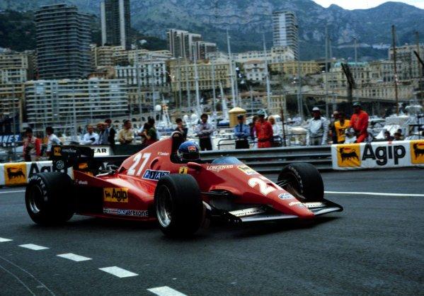 1983 Monaco Grand Prix.Monte Carlo, Monaco.12-15 May 1983.Patrick Tambay (Ferrari 126C2B) 4th position.World Copyright - LAT Photographic