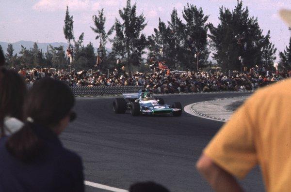 1970 Mexican Grand Prix.Mexico City, Mexico.23-25 October 1970.Henri Pescarolo (Matra-Simca MS120) 9th position.Ref-70 MEX 33.World Copyright - LAT Photographic