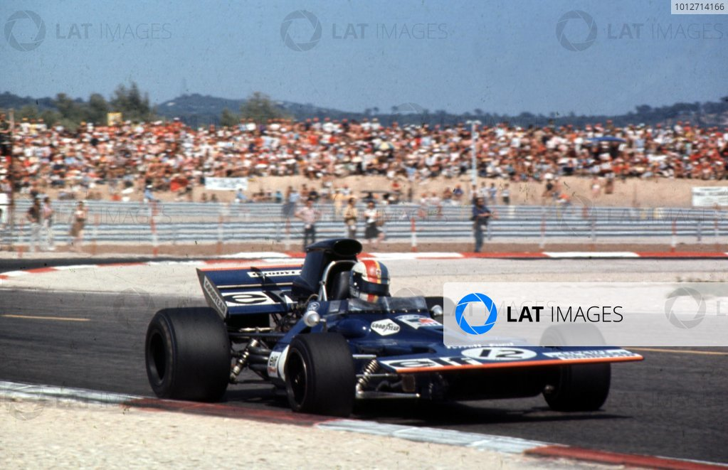 1971 French Grand Prix.Paul Ricard, Le Castellet, France.2-4 July 1971.Francois Cevert (Tyrrell 002 Ford) 2nd position.Ref-71 FRA 05.World Copyright - LAT Photographic