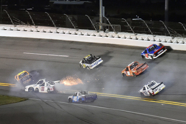 #33: Jason White, Reaume Brothers Racing, Chevrolet Silverado powder ventures excavations and #26: Tyler Ankrum, GMS Racing, Chevrolet Silverado Liuna!