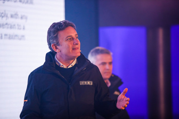 Alejandro Agag, CEO, Formula E and Gil De Ferran Extreme E CEO, at the Extreme E Launch