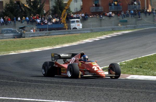 1983 San Marino Grand Prix.Imola, Italy.29/4-1/5 1983.Patrick Tambay (Ferrari 126C2B) 1st position.Ref-83 SM 09.World Copyright - LAT Photographic