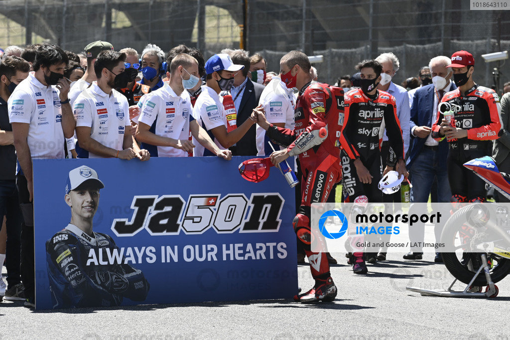 A minutes silence to remember Jason Dupasquier.