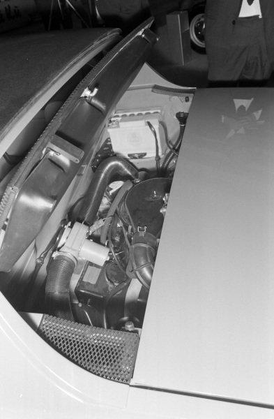 Engine location on the Porsche 914.