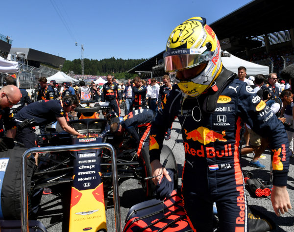 Max Verstappen, Red Bull Racing RB15 before the race