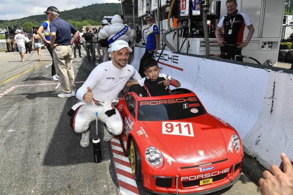 Young Porsche Fan and Earl Bamber