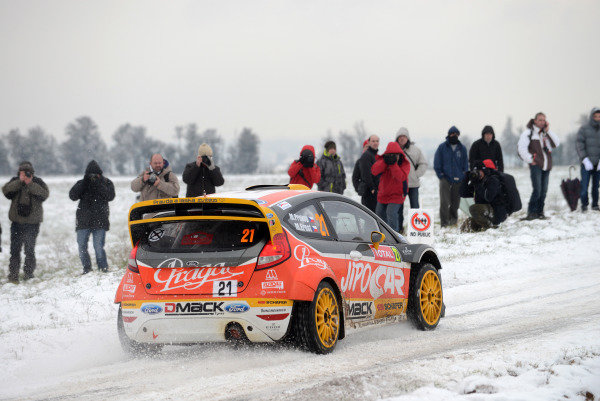 Martin Prokop (CZE) and Michal Ernst (CZE), Ford Fiesta RS WRC on the shakedown stage.FIA World Rally Championship, Rd1, Rally Monte Carlo, Shakedown and Qualifying, Monte Carlo, 15-20 January 2013.
