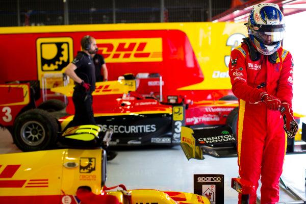 Circuit de Barcelona Catalunya, Barcelona, Spain. Monday 13 March 2017. Gustav Malja (SWE, Racing Engineering).  Photo: Alastair Staley/FIA Formula 2 ref: Digital Image 585A6657