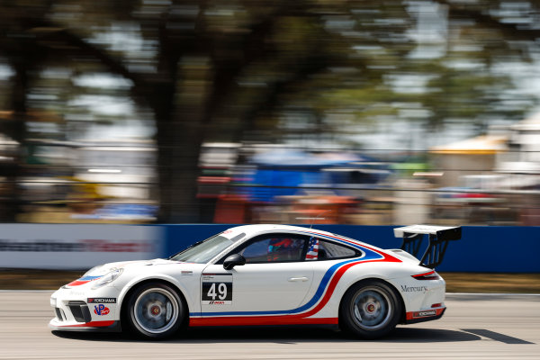 2017 Porsche GT3 Cup USA Sebring International Raceway, Sebring, FL USA Friday 17 March 2017 49, Sebastian Landy, GT3P, USA, 2017 Porsche 991 World Copyright: Jake Galstad/LAT Images ref: Digital Image lat-galstad-SIR-0317-14691