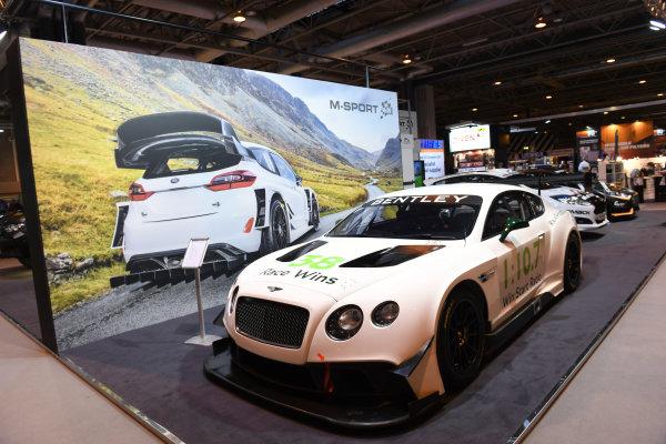 Autosport International Exhibition. National Exhibition Centre, Birmingham, UK. Friday 13 January 2017. A Bentley on the M-Sport stand. World Copyright: Sam Bagnall/LAT Photographic. Ref: DSC_2778