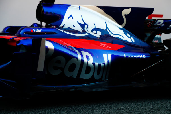 Toro Rosso STR12 Formula 1 Launch. Barcelona, Spain  Sunday 26 February 2017. STR12 World Copyright: Dunbar/LAT Images Ref: _X4I9736