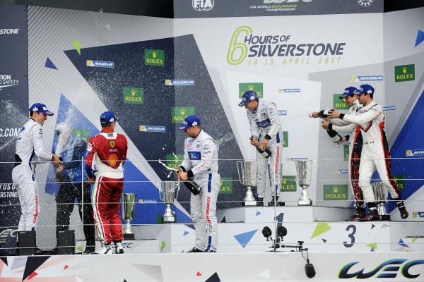 2017 World Endurance Championship, Silverstone, UK. 14th-16th April 2017, GT Pro Podium  World Copyright. JEP/LAT Photographic