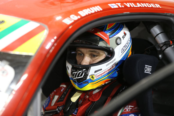 2015 FIA World Endurance Championship, Bahrain International Circuit, Bahrain. 19th - 21st November 2015. Toni Vilander AF Corse Ferrari F458 Italia. World Copyright: Jakob Ebrey / LAT Photographic.