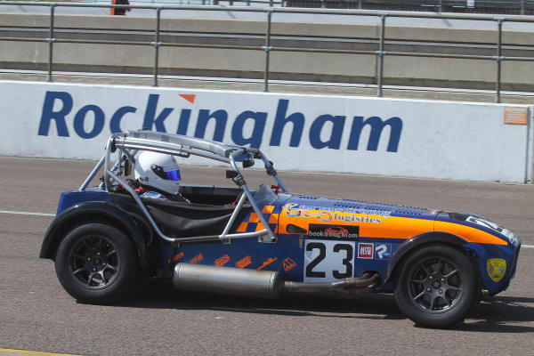 Caterham Super 7 Inter Series, Rockingham, 30th April-1st May 2016. Justin Armstrong World Copyright: Ebrey/LAT
