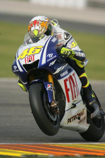 Valencia, Spain. 10th November 2009.Valentino Rossi Fiat Yamaha Team.World Copyright: Martin HEath/LAT Photographicref: Digital Image SE5K1905