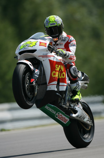Brno, Czech Republic. 14th - 16th August.Toni Elias San Carlo Honda Gresini.World Copyright: Martin Heath/LAT Photographic ref: Digital Image SE5K2840