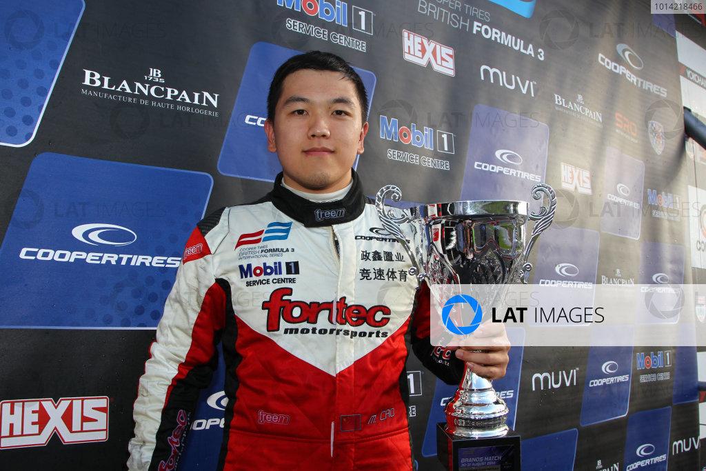 2014 British F3 International Series, Brands Hatch, Kent. 30th - 31st August 2014. Hongwei Cao (CHN) Fortec Motorsports Dallara Mercedes. World Copyright: Ebrey / LAT Photographic.