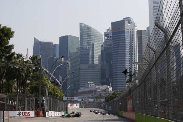 Marina Bay Circuit, Singapore. Sunday 21 September 2014. Action from race 2 of the Masters Historic Grand Prix support race. World Copyright: Charles Coates/LAT Photographic. ref: Digital Image _J5R7366