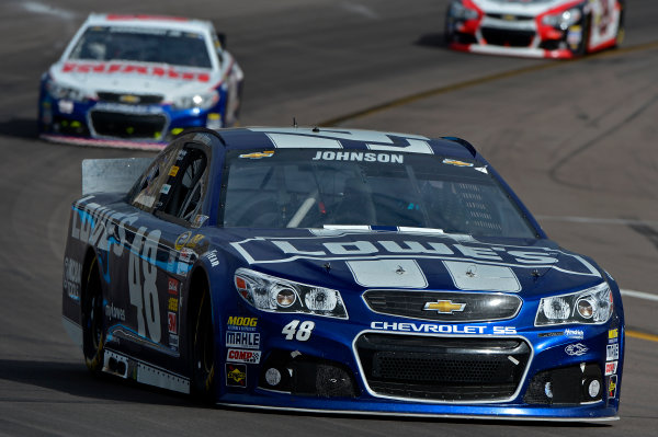 March 1-3, 2013 Avondale, Arizona USA Jimmie Johnson and Dale Earnhardt Jr cars.(c) 2013, Brian Czobat LAT Photo USA .