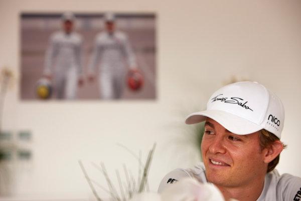 Korea International Circuit, Yeongam-Gun,South Korea. 13st October 2011. Nico Rosberg, Mercedes GP W02. Portrait.  World Copyright:Steve Etherington/LAT Photographic ref: Digital Image SNE27712