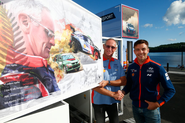 2017 FIA World Rally Championship, Round 09, Rally Finland / July 27 - 30, 2017, John Kennerd and Hayden Paddon, Hyundai, portrait, Worldwide Copyright: McKlein/LAT