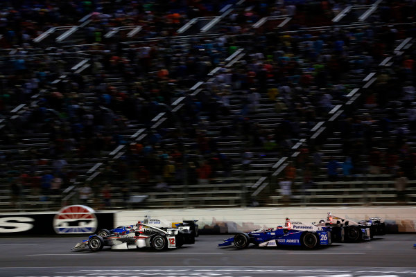 Verizon IndyCar Series Rainguard Water Sealers 600 Texas Motor Speedway, Ft. Worth, TX USA Saturday 10 June 2017 Scott Dixon, Chip Ganassi Racing Teams Honda, Will Power, Team Penske Team Penske Chevrolet World Copyright: Phillip Abbott LAT Images ref: Digital Image abbott_texasIC_0617_5045